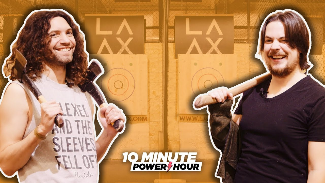 Axe Throwing CONTEST! – Ten Minute Power Hour