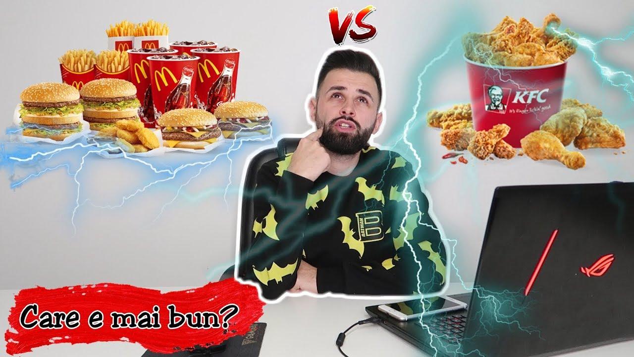 🍟 McDonald's sau KFC🍗? (care e mai bun?)