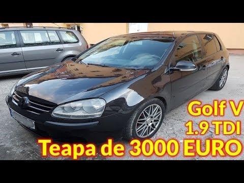 Teapa de 3500 euro cu un Golf 5 de la samsar din Hunedoara