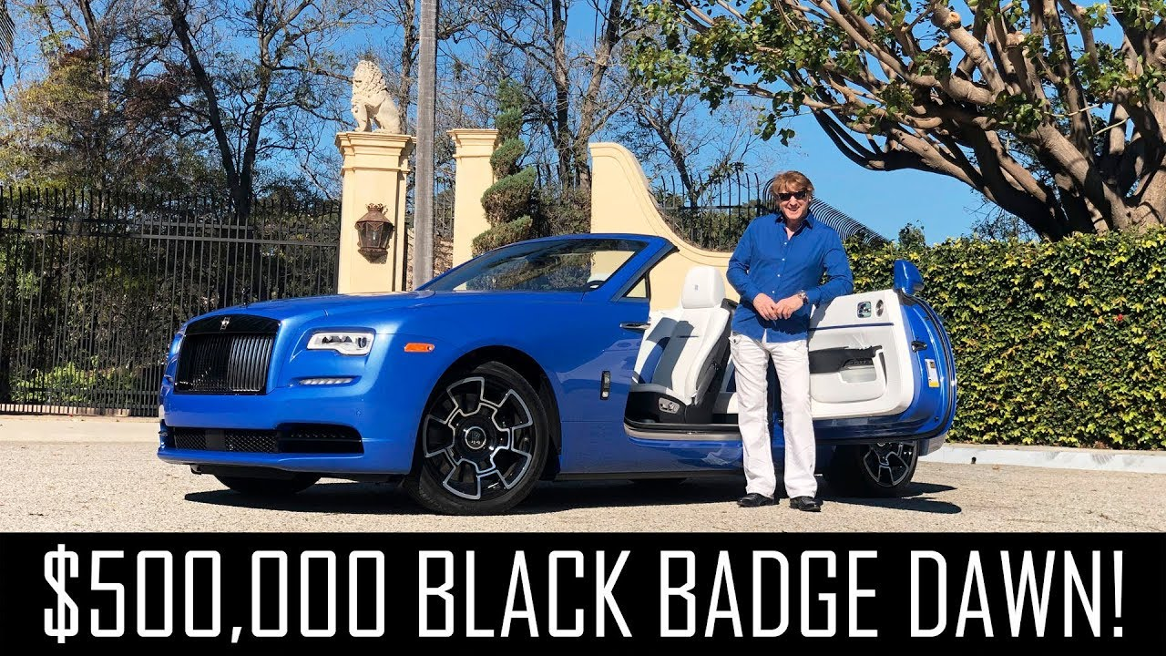 My new $500,000 Black Badge Rolls Royce Dawn!