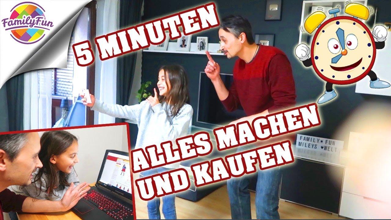 5 MINUTEN lang ALLES KAUFEN und MACHEN was MILEY will – Family Fun