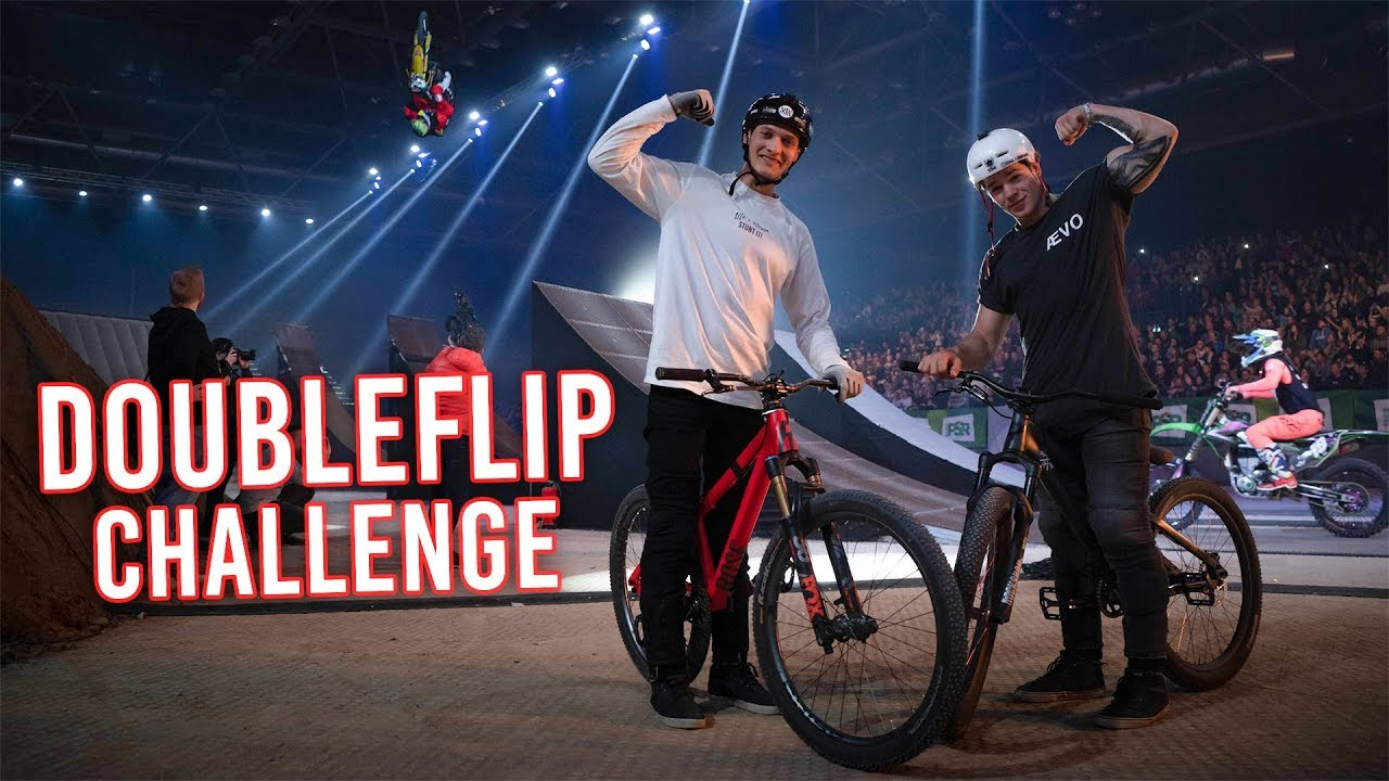 DOUBLE BACKFLIP CHALLENGE mit Marc Diekmann – Kings Of Xtreme Show Leipzig