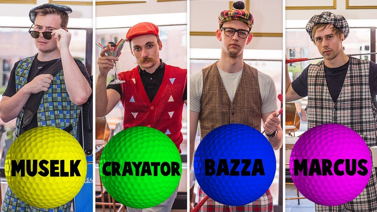 CLICK ULTIMATE MINI-GOLF | Muselk,  Crayator, BazzaGazza & Marcus