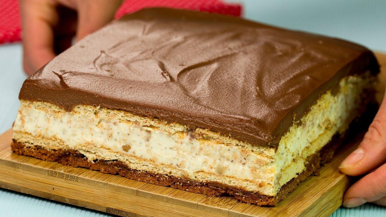 Tort Kinder Bueno uriaș! Un desert fără coacere de-a dreptul fascinant   SavurosTV
