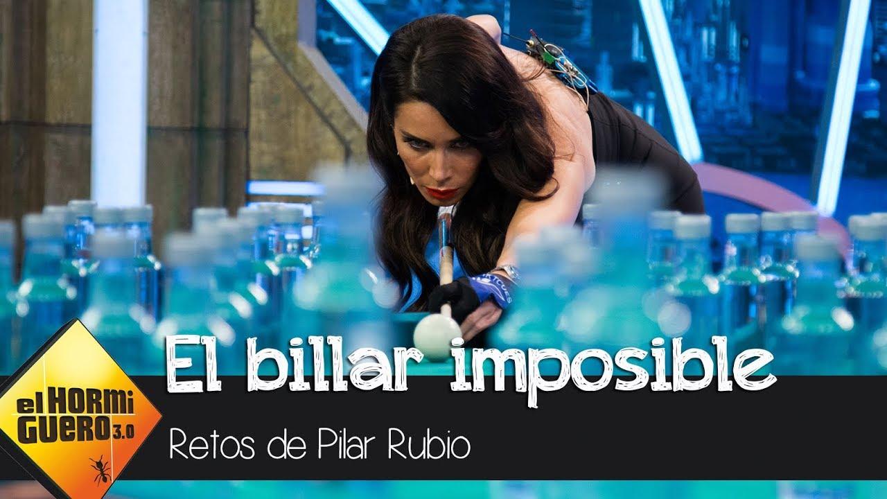 Pilar Rubio hace un truco de billar  imposible en la visita de Sergio Ramos – El Hormiguero 3.0