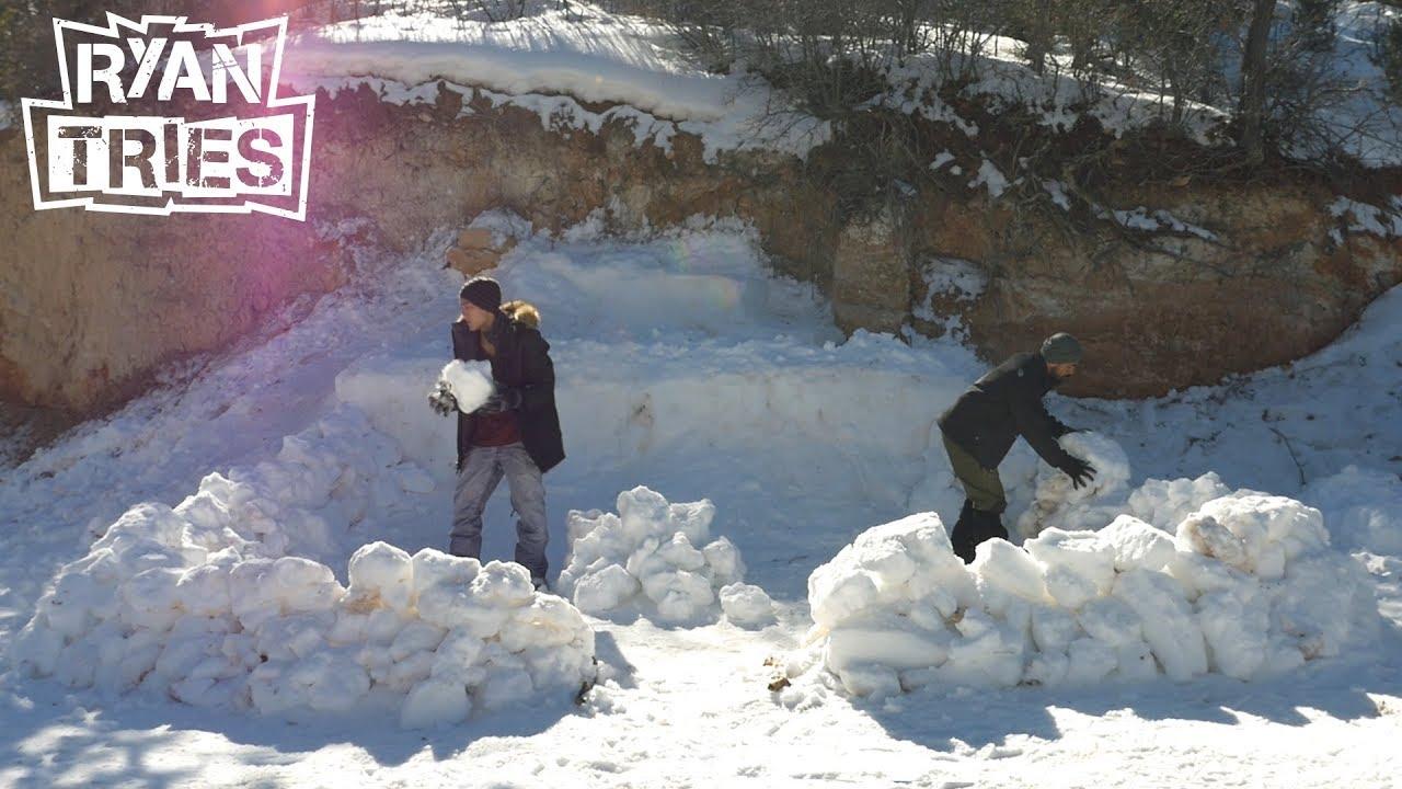 Ryan Tries: Primitive Building – EPIC SNOW FORT