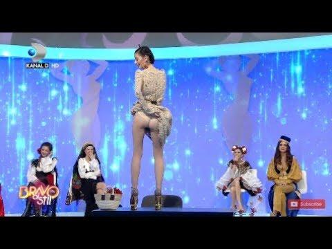 Bravo, ai stil! (09.02.2019) – Alexandra, provocata de Bote! Si-a pus fusta in cap si s-a vazut tot!