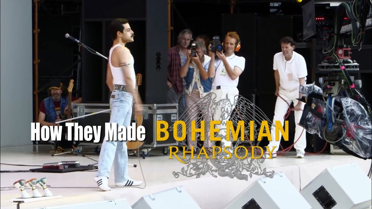 The Making Of Bohemian Rhapsody Movie Behind The Scenes Rami Malek Gwilym Lee Joe Mazzello Ben Hardy