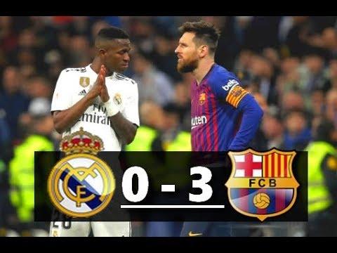 Real Madrid vs Barcelona ( 0-3 ) 🔥 All Goals Highlights Resumen y Goles 27/02/2019