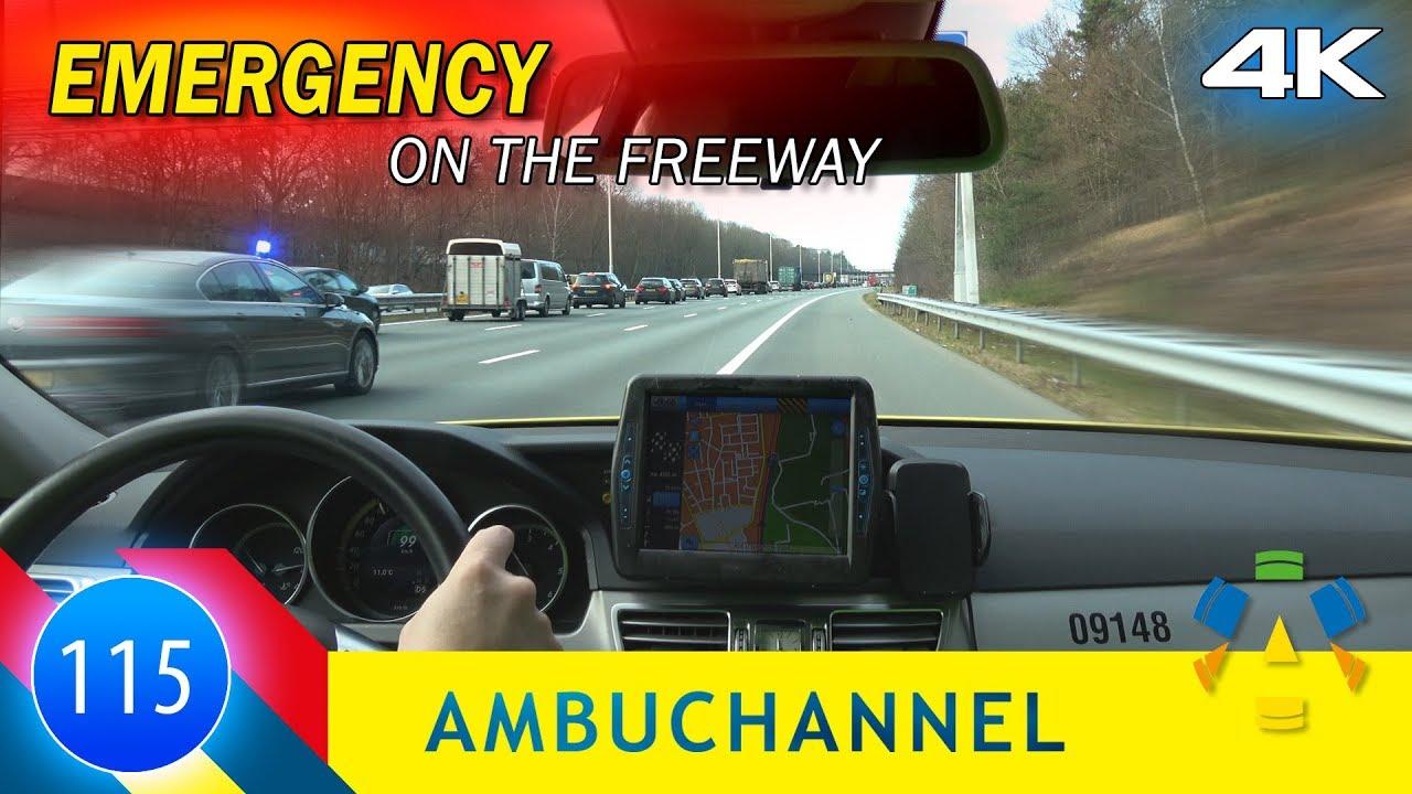 [4K] Emergency on the freeway