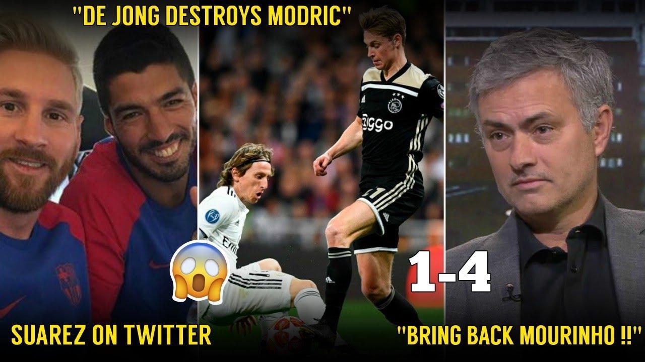 Players Reaction To Real Madrid vs Ajax 1-4 | ft. De Jong, Tadic, Sergio Ramos
