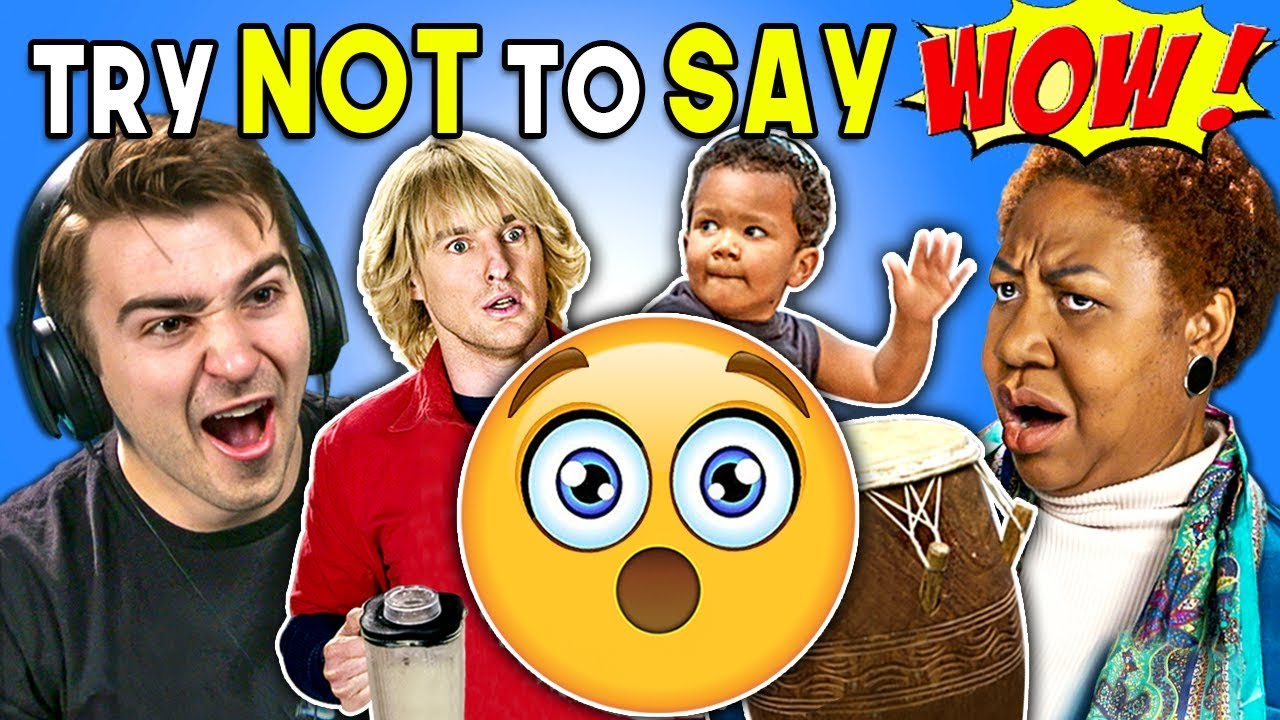 Generations React To Try Not To Say Wow Challenge