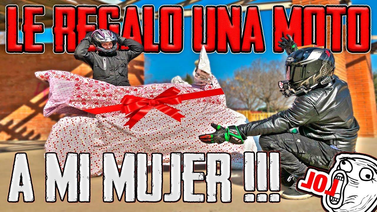 SOPRESA !!! LE REGALO UNA MOTO A MI MUJER !!! 😱😱 QUE MOTO SERÁ ??? 🧐
