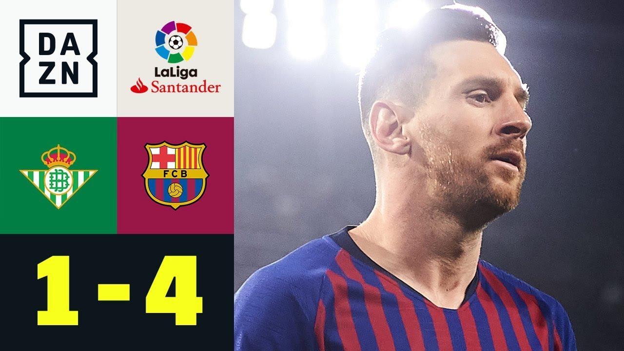 Dreierpack! Die Welt staunt über Lionel Messi: Real Betis – FC Barcelona 1:4 | La Liga | DAZN
