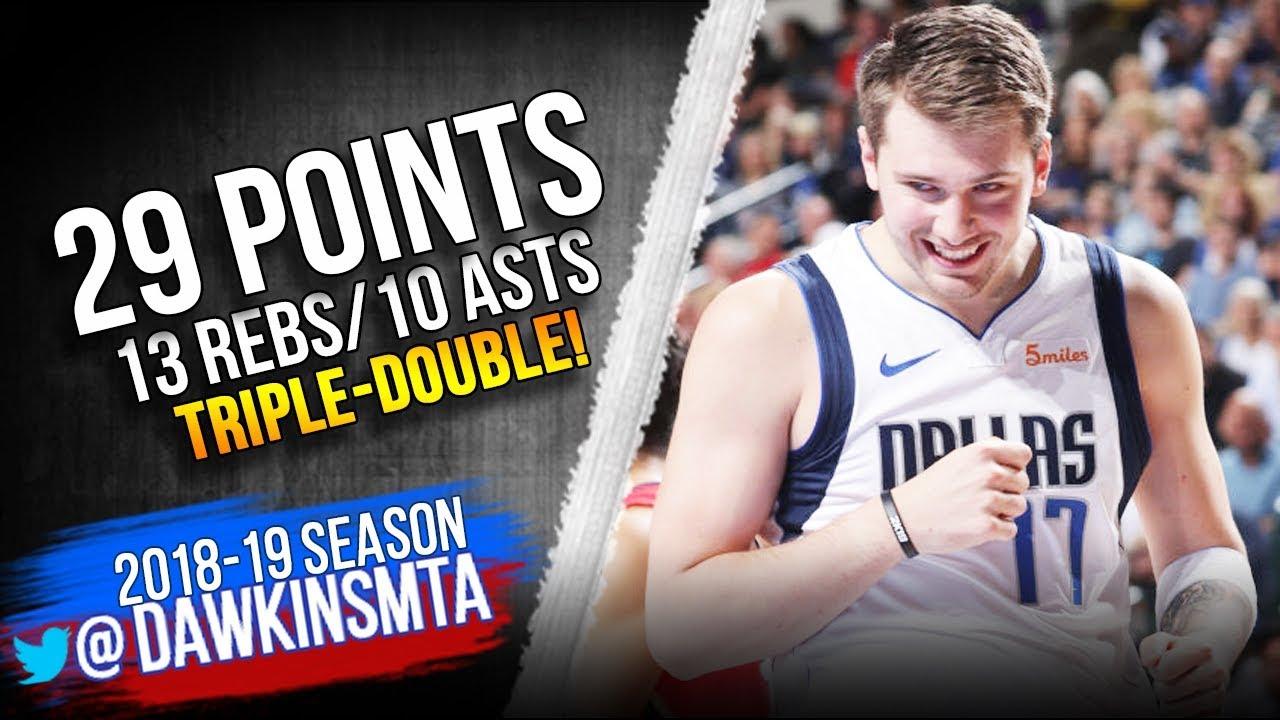 Luka Doncic Triple-Double 2019.03.18 Mavs vs Pelicans – 29-13-10! | FreeDawkins