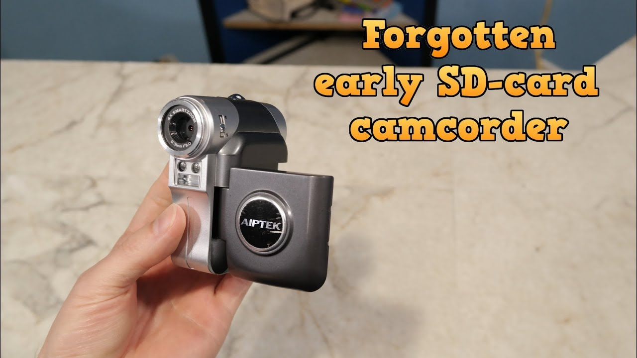 Forgotten Camera – Aiptek ISDV2, an early SD-Card camcorder.