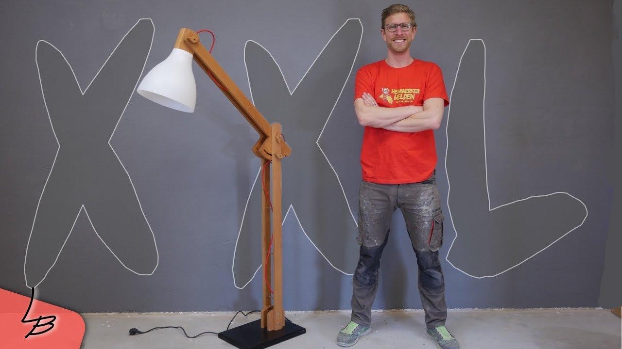 Riesige XXL Stehlampe aus Holz   So wird sie gebaut #1   Lets Bastel