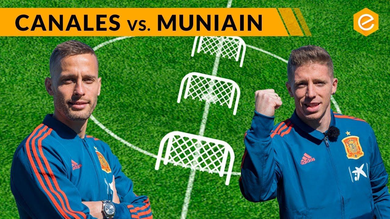Canales y Muniain se atreven con el reto de puntería adidas