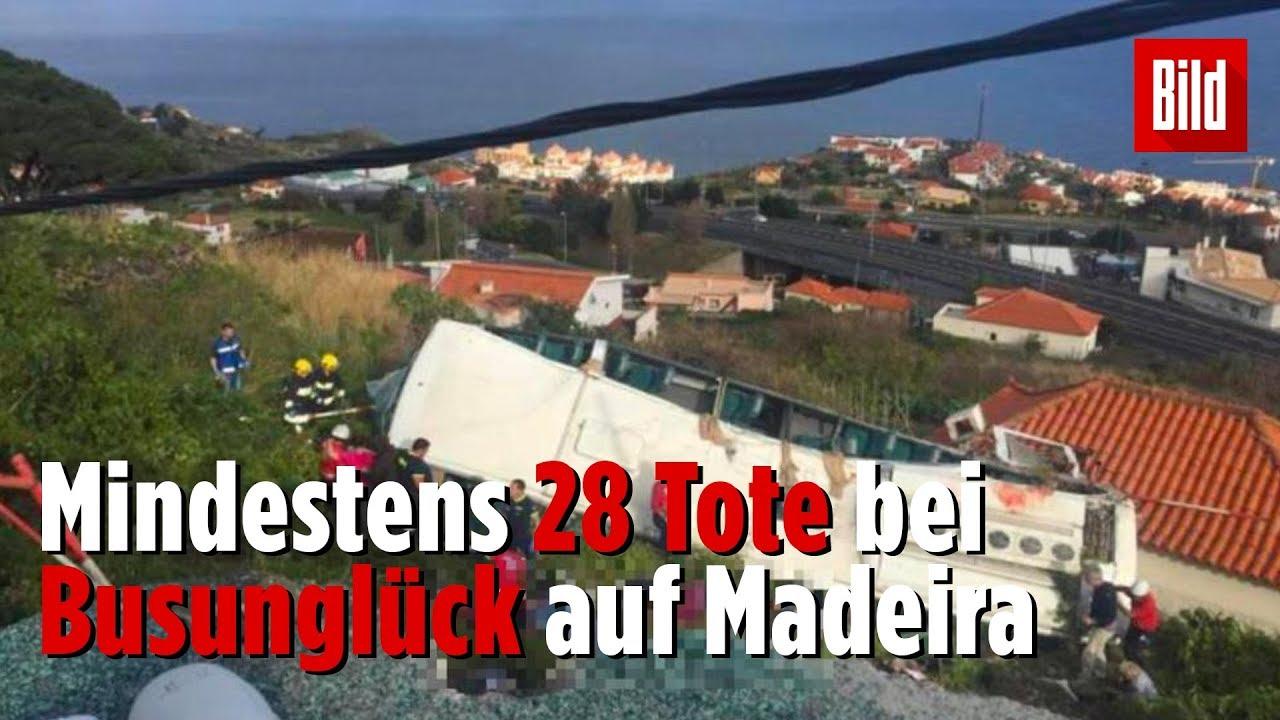 Mindestens 28 Tote bei Busunglück auf Madeira