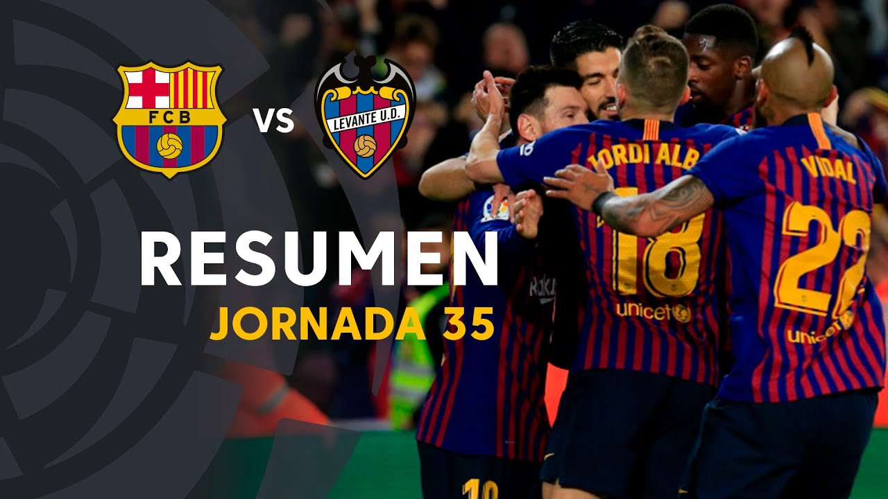 Resumen de FC Barcelona vs Levante UD (1-0)