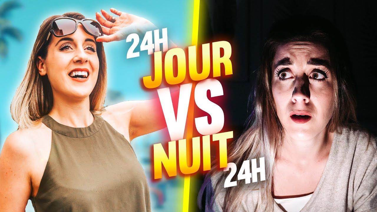 VIVRE LE JOUR VS VIVRE LA NUIT – 24H CHALLENGE | DENYZEE
