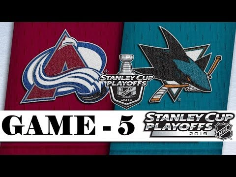 Colorado Avalanche vs San Jose Sharks | Second round | Game 5 | Stanley Cup 2019 | Обзор