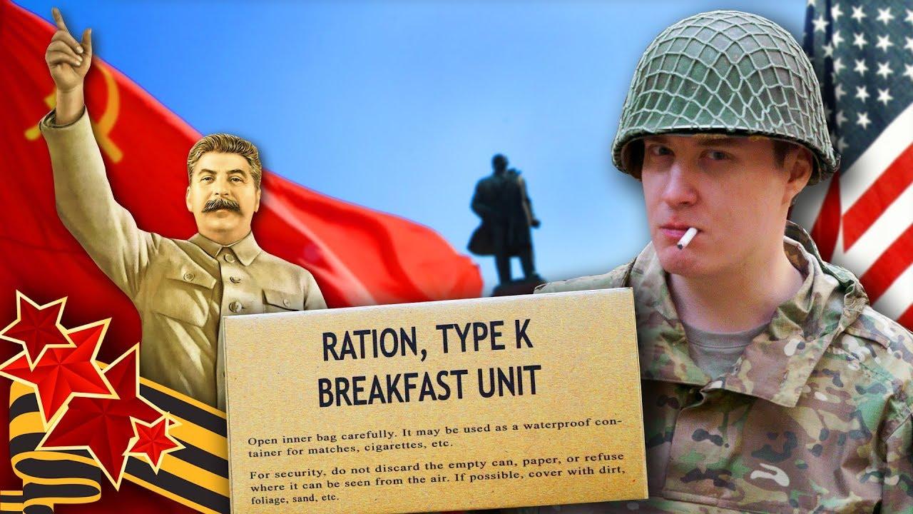 ОБЗОР ИРП США K-Ration 1945!  СТАЛИН ПОБЕДИЛ! С Днем Победы!