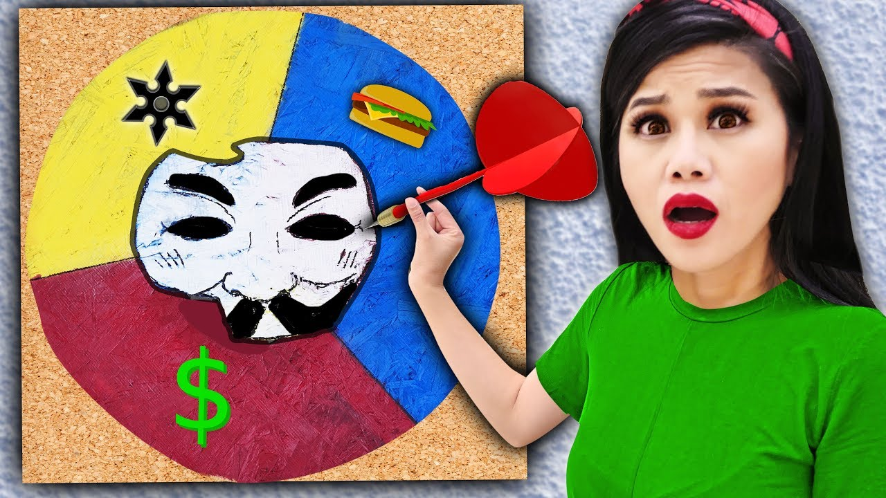 Throwing a DART at a MAP & Hacker Girl PZ4 Unmasking Whatever It Lands On – Spy Ninja Challenge