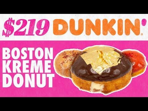 $219 Dunkin' Boston Kreme Donut | Fancy Fast Food | Mythical Kitchen