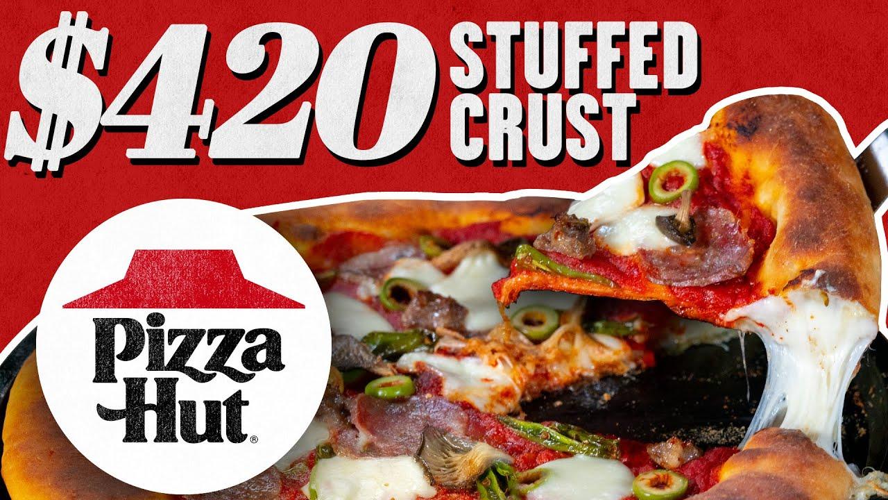 $420 Pizza Hut Stuffed Crust Pizza | Fancy Fast Food | Mythical Kitchen