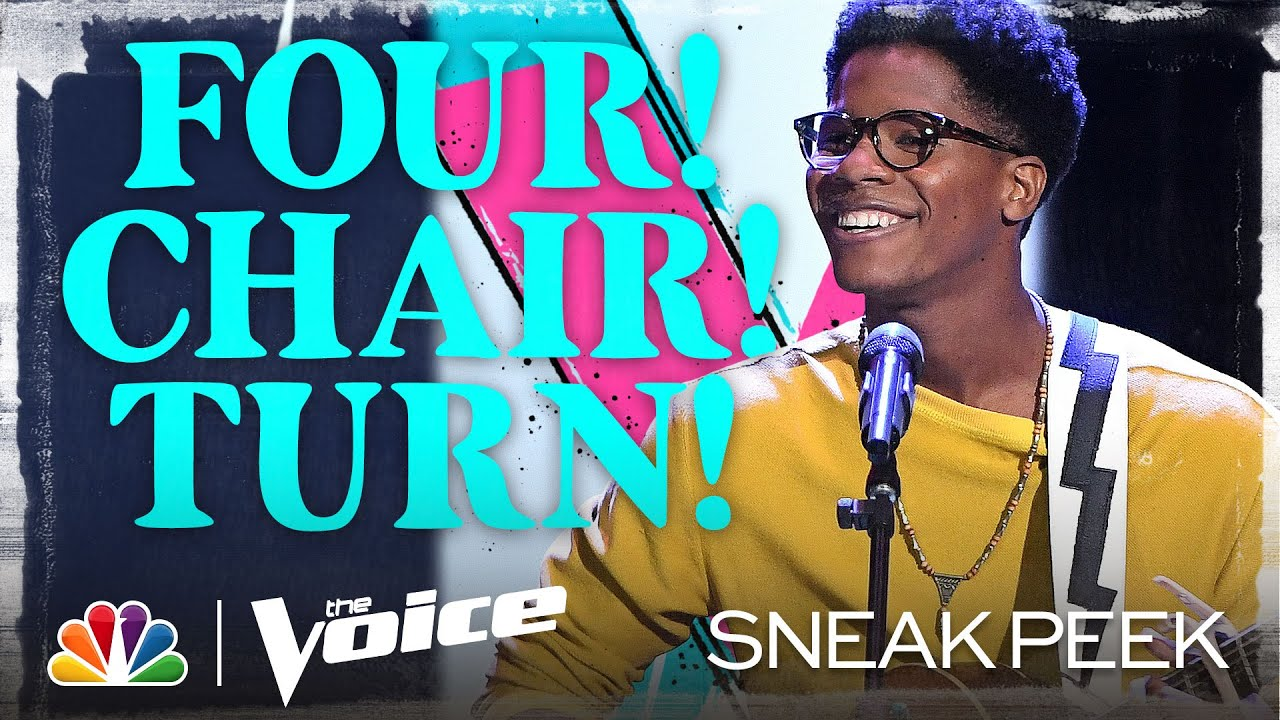 "All Chairs Turn as Thunderstorm Artis Sings ""Blackbird"" – The Voice Blind Auditions 2020"
