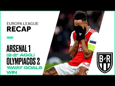 Arsenal 1-2 Olympiacos (2-2* agg.): Europa League Recap with Goals, Highlights, Best Moments