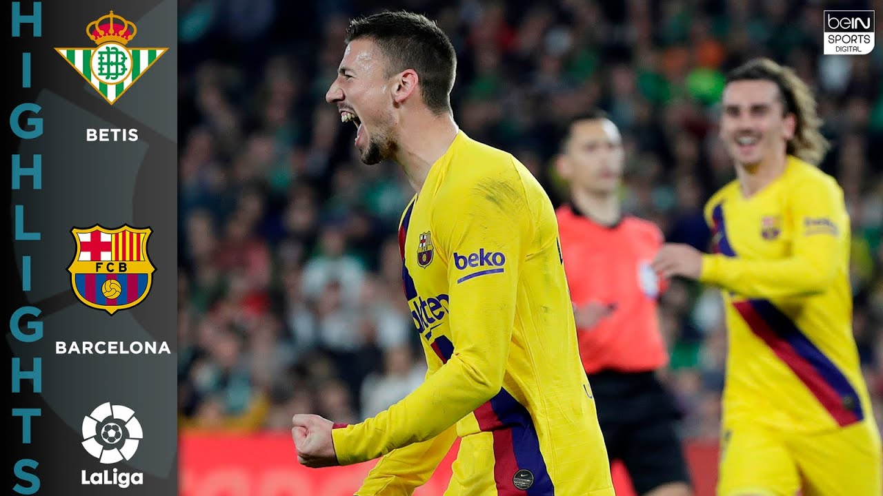 Betis 2 – 3 Barcelona – HIGHLIGHTS & GOALS – 02/09/2020