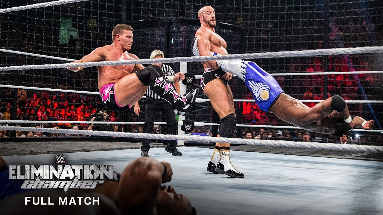 FULL MATCH – WWE Tag Team Title Elimination Chamber Match: WWE Elimination Chamber 2015