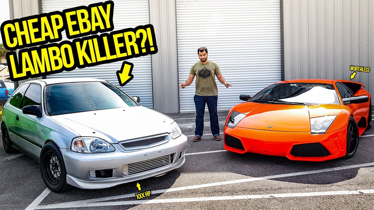 I Bought A Cheap Honda Civic On Ebay That's FASTER THAN MY LAMBORGHINI