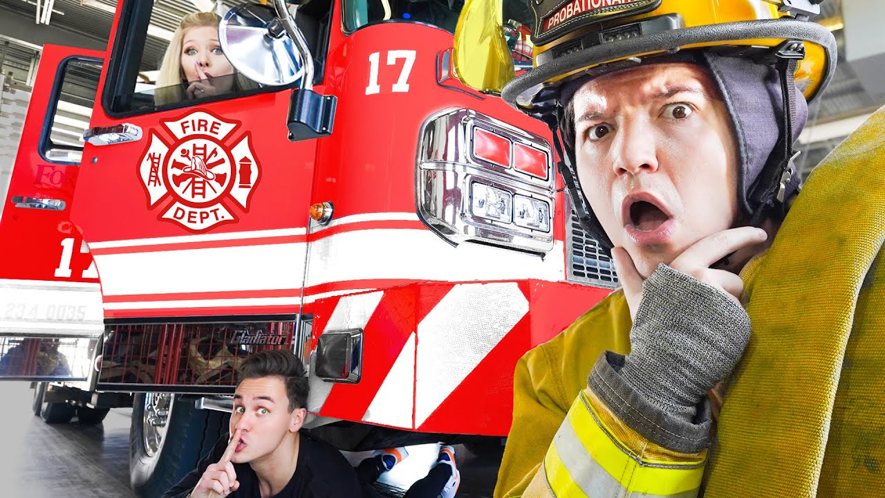 I Challenged ACTUAL Firefighters To Hide and Seek in their Station!