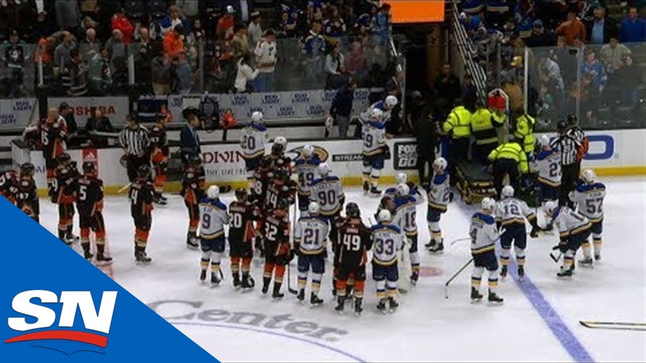 Jay Bouwmeester Collapses On Bench Resulting in Cancellation Of Blues vs. Ducks