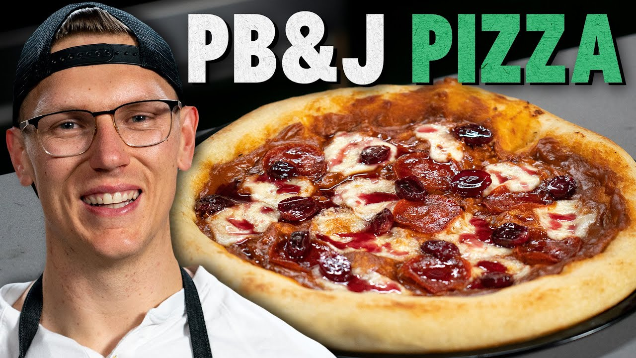 Josh Makes a Peanut Butter and Jelly Pizza
