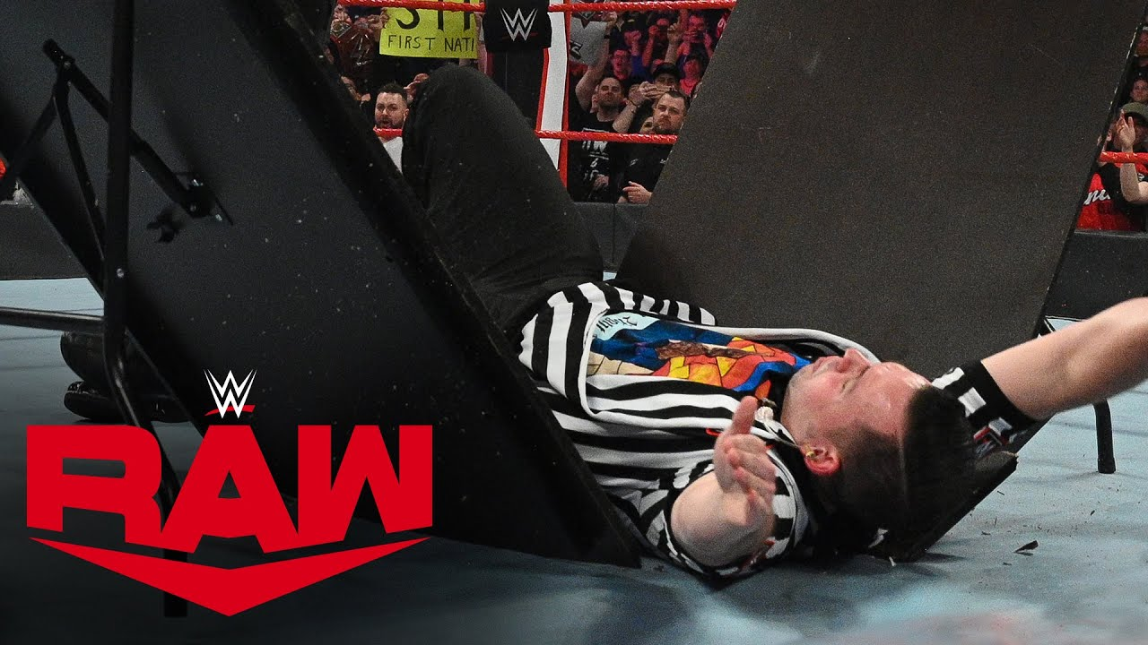Kevin Owens smashes a WWE referee through a table: Raw, Feb. 24, 2020