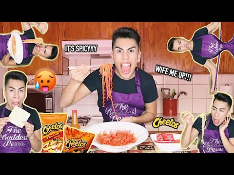 MAKING BOMB AF HOT CHEETO NOODLES/MUKBANG | Louie's Life