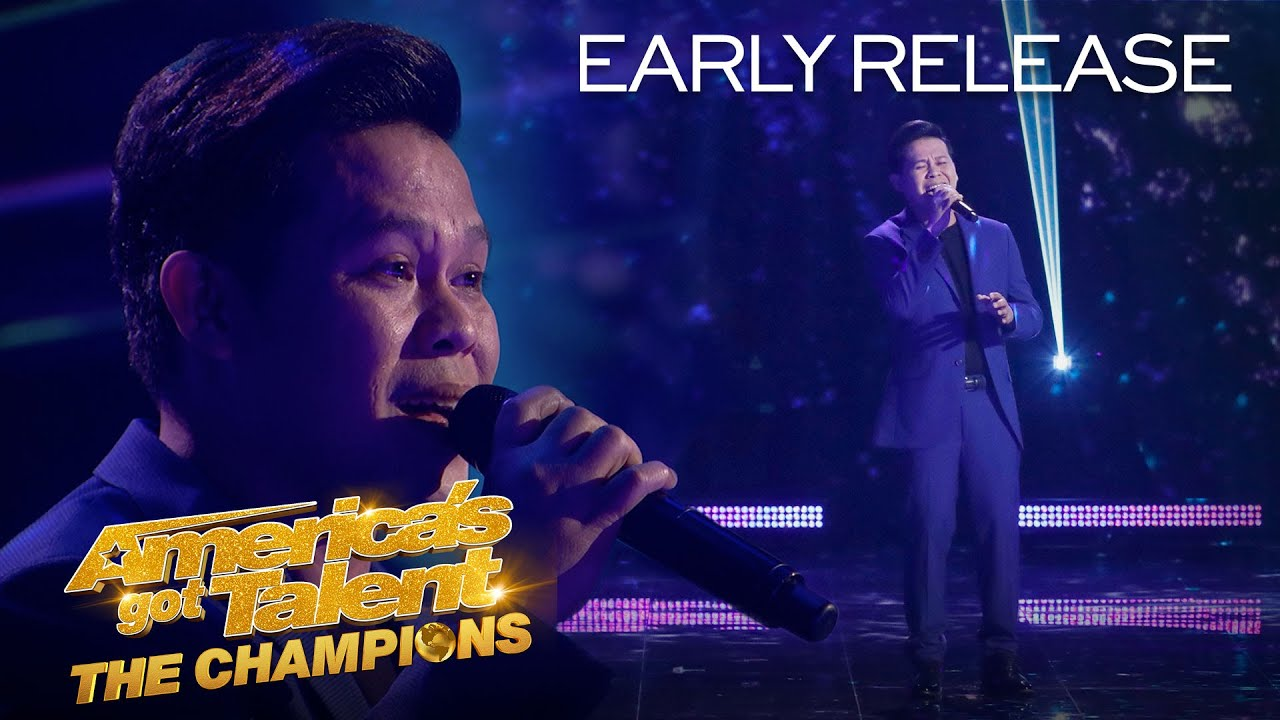 "Marcelito Pomoy Sings ""Beauty And The Beast"" With DUAL VOICES! – America's Got Talent: The Champions"