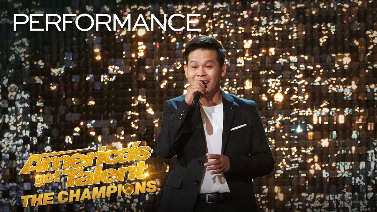"Marcelito Pomoy Sings ""Con Te Partirò"" With DUAL VOICES! – America's Got Talent: The Champions"