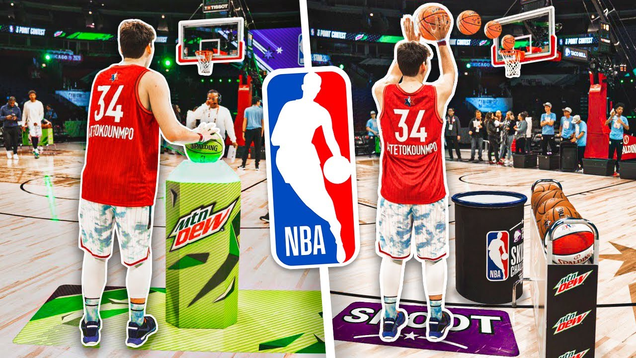 Playing in the OFFICIAL NBA ALL STAR Skills Challenge + 3PT Contest 2020
