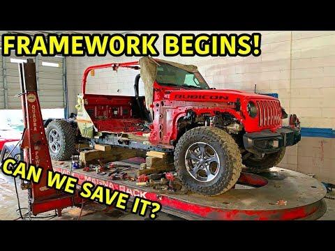 Rebuilding A Wrecked 2020 Jeep Gladiator Rubicon Part 5