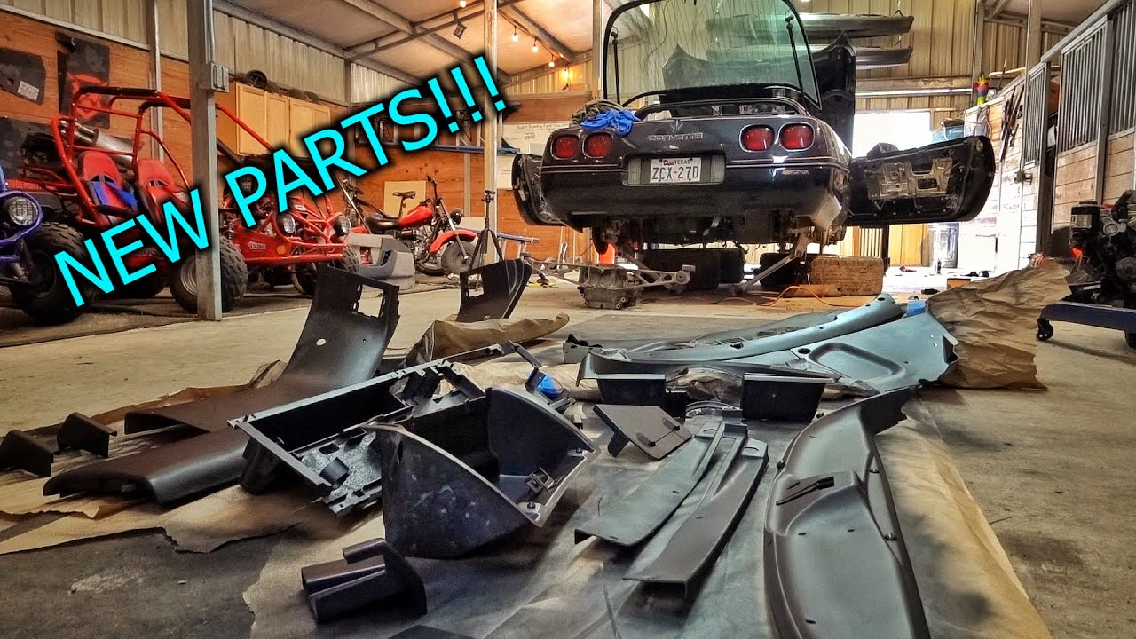 Rebuilding a Destroyed ZR1 Corvette Part 4