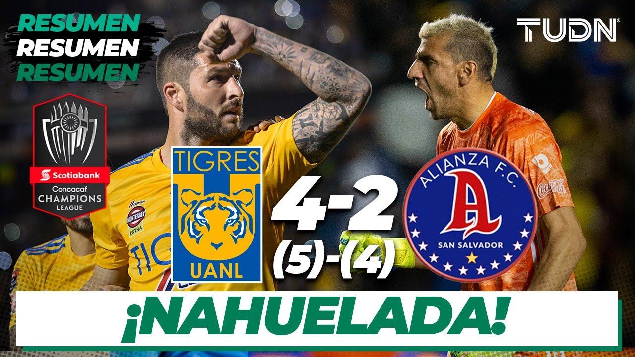 Resumen y Goles | Tigres 4 (5) – (4) 2 Alianza FC | CONCACAF Champions League – Vuelta | TUDN