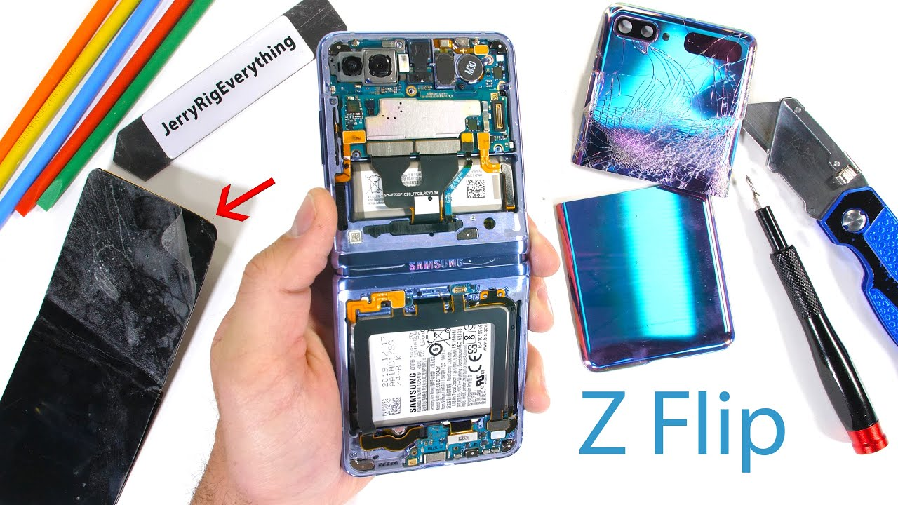 Samsung Galaxy Z Flip Teardown! – Where is the Glass?!