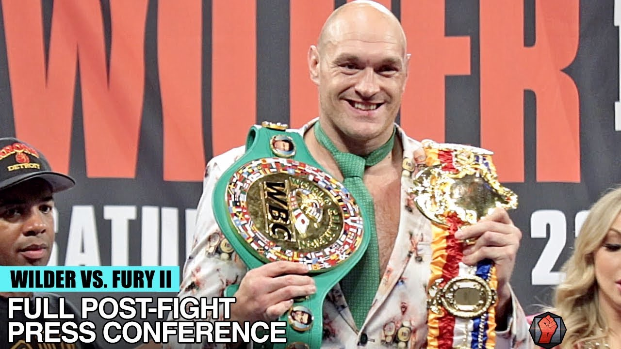 TYSON FURY'S FULL POST FIGHT PRESS CONFERENCE VS DEONTAY WILDER 2 – WILDER FURY 2 POST FIGHT