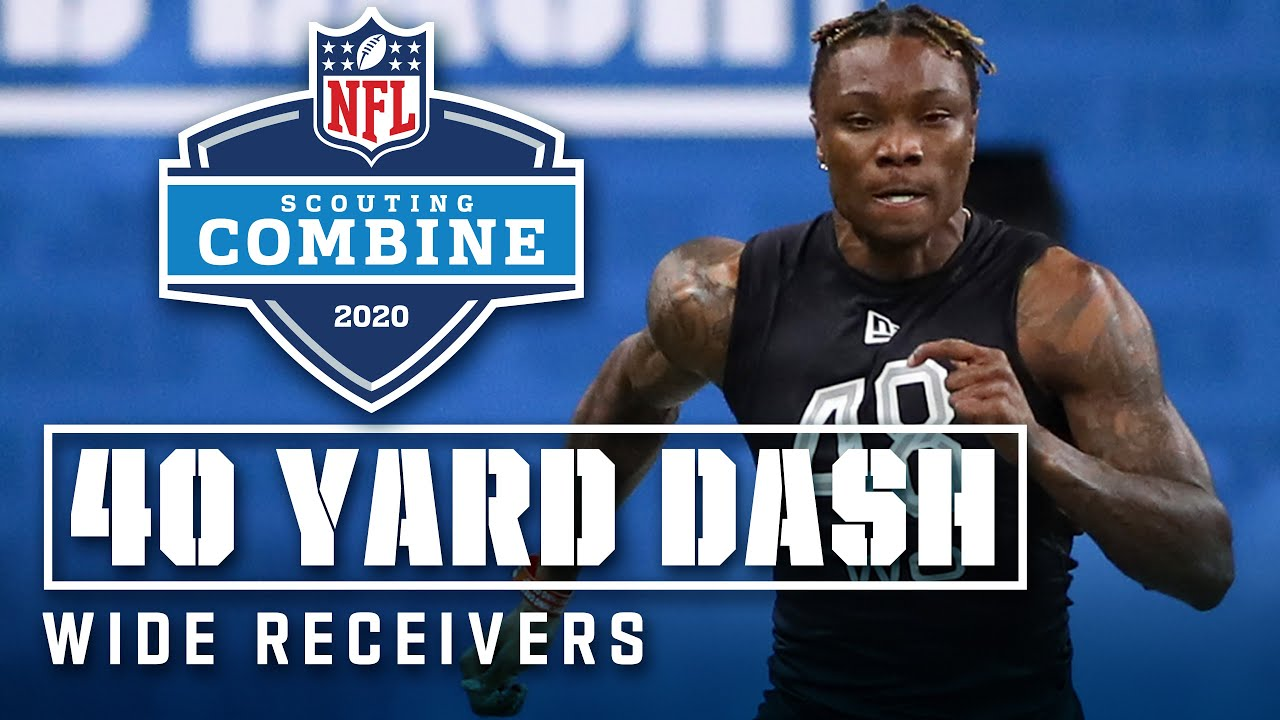 Wide Receivers Run the 40-Yard Dash at the 2020 NFL Scouting Combine