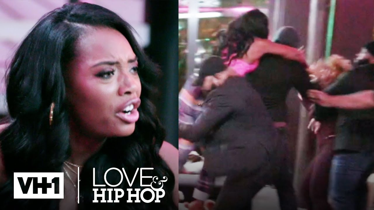 Yandy Runs Up On Kimbella For Throwing A Drink At Her! | Love & Hip Hop: New York
